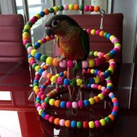 Wholesale Small Elevated Station Parrot Toy Bouncing Cage Bird Hanging Swing Exercise Rainbow Spiral Wooden Parakeet Ladder Chew Toys