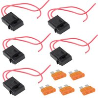 Wholesale 5 Packs A Gauge ATC Fuse Holder In line AWG Wire Copper Power Blade V B00120 FASH