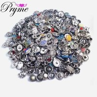 Wholesale 50pc Retro MM Snap Button Metal Rhinestone High Qualit Mixed Style Snap Chunk Diy Jewelry Fit For Noosa Snap Chunk Button Charm Bracel