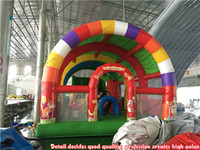activity sets for kids - inflatable fun city with tent roof Inflatable Large Roofed Activity Bouncer for kids play centre