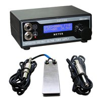 Wholesale Solong Tattoo Power Supply LCD Digital Display Foot Pedal Clip Cord for tattoo machine Needle Grip Ink Kit P121