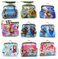 Wholesale frozen wallet children kids cards bag key bag fashion coins bag Zero Wallet Coin Purse cartoon style optional a878