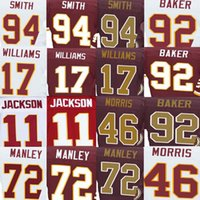 dexter - DeSean Jackson Jersey Doug Williams Preston Smith Alfred Morris Chris Baker Dexter Manley American Football Jerseys Elite