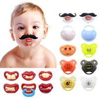 Wholesale Silicone Funny Baby Pacifier Dummy Nipple Teethers Toddler Pacy Orthodontic Teat Infant Baby Pacifiers With Retail Package Christmas gift