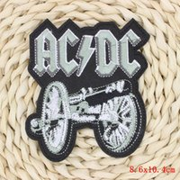 ac dc sticker - 1Pcs Cannon Iron On Patches For Clothing Rock Punk AC DC Embroidered Patches Apparel Sewing Applique DIY Clothes Stickers