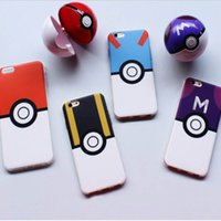 balls shell - Wear Resisting Cell Phone Cases for Iphone Plastic Poke Ball Anti Fall Phone Shells for Iphone Plus
