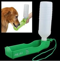 Wholesale Plastic Portable Pet Dog Cat Water Feeding Feeder Bottle Drink Bowl Comes with a strap for easy carrying