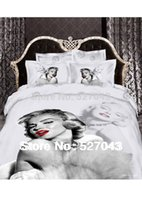Wholesale New Marilyn Monroe Luxury D Bedding Set Bed linen Duvet or Quilt Cover Bedclothes Full Queen King Size