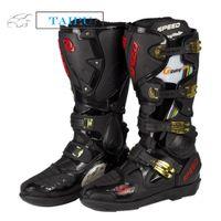 Wholesale B1004 Motorcycle Boots Pro Biker SPEED Bikers Motor Van Racing Boots Motocross Leather Long Shoes