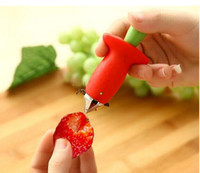 Wholesale new Strawberry Tomato Stem Leaves Huller Remover Removal Fruit Corer Kitchen Tool