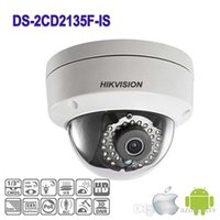 Wholesale HIK Camera DS CD2135F IS Mini Dome Camera MP IP camera with POE camera m Ir distance ip66 Support Hikvision NVR c