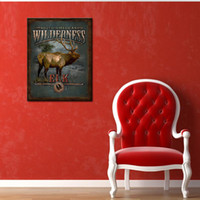 background panel - 1 Picture Combination No Framed Ready to Hang One Panels Deer At Gray prairie background Modern Landscape Oil painting Print Canvas Wall Art