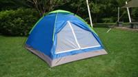 al por mayor fishing tent-Pesca al aire libre impermeable al aire libre al por mayor 20pcs / lot que viaja la tienda de 2 personas Ducha UV-resistente portable 200x150cm