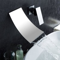 Wholesale Sanitary Products Recessed Into The Wall Two Set Of Copper Dasin Waterfall Faucet Bath Shower Tap Chromium Plating