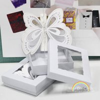 Wholesale 2016 made in China White color Butterfly Scroll Wedding Invitations Customized Wedding Card Invitation with paper box