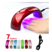 batteries fingers - Small Package w Cute Nail Art Gel Polish Lamp Led UV Light Dryer Nail Finger Dry Mini LED Nail Lamp Hot Nail Dryer