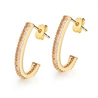 alphabet list - New products listed K Gold Plated contracted earrings women jewelry