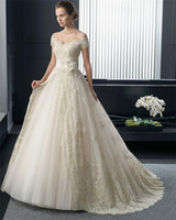 Wholesale Plus Size New Fashionable Organza Lace Princess Wedding dresses V Neck Sexy Luxury Wedding Gowns with Flower Belt