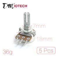 audio taper - B1M M Ohm mm Metal Rotating Shaft Rotary Audio Taper Potentiometers Shaft mm x mm Hole mm