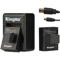 Usb gopro España-Kingma 2pcs de la batería 1180mah + doble cargador + cable USB (doble) para GoPro Hero 3/3 + .Gopro Accesorios Go Pro de la batería