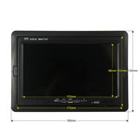 Voir gros-7 pouces couleur TFT LCD DC 12V voiture moniteur arrière Têtière affichage avec entrée 2 canaux vidéo pour DVD VCD Caméra de recul