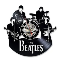 beatles records - Vintage Vinyl Record Wall Clock Gift for the Beatles Fans