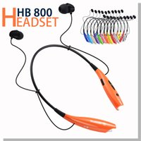 apple ear piece - HB800 HB Headphone Bluetooth Earphone Wireless Stereo Headset Sport Neckband black neck strap in ear OPP Package Without LOGO Pieces