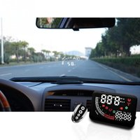 Wholesale 5 quot Car HUD Head Up Display OBD II Speed Warning System Fuel Consumption