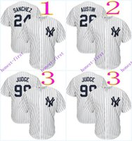 austin york - new york yankees gary sanchez tyler austin MLB Baseball Jerseys Elite Cool base Jersey Authentic Stitched
