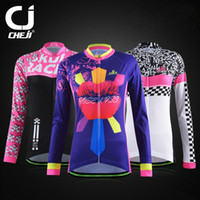 Wholesale 2016 Cheji Female Long Sleeve Cycling Jacket Riding Bike Coat Bicycle Jersey For Women