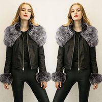 atmosphere outerwear - Free shipp Ladies Outerwear Furs Leather Jackets Fashionable Atmosphere Street Shootout Large Size Leather Jackets Zipper Jacket