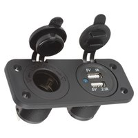 Wholesale 12V Car Cigarette Lighter Motorcycle Boat Plug Socket Splitter Dual USB A A Power Adapter Charger Outlet for Smart Phone CEC_685