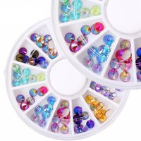 acrylic color wheel - 1 Wheel Color DIY D Crystal Acrylic Glitters Rhinestone Nail Art Decoration Manicure Tips Tools