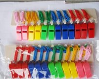 Wholesale Kids Sport Whistles Cheap Plastic Whistle Toy Mixed Colors