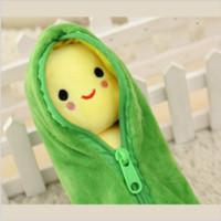 Wholesale cm Kids Baby Plush Toys Cute Pea Stuffed Plant Doll Lovely Beans Toys Smile Kawaii Emoji Kids Gift ML0115