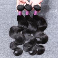 Wholesale 2016 Brazilian Hair Body Wave Hair Weaves Bundles Virgin Human Hair Weave Double Weft Hair Bundles Color B Products Remy Hair Extensions