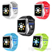 Wholesale A1 Smart Watch Bluetooth Smartwatch Apple iWatch Support SIM TF Card Smart Watches for Smartphone with Retail Package