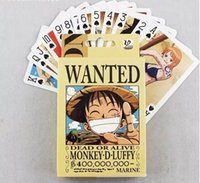Wholesale one piece poker cards high quality japanese Anime Poker Wanted collectable comic playing card board party game