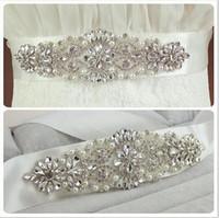 Wholesale Newest Wedding Sash Gorgeous Beads Crystal Rhinestone Wedding Dress Sash Wedding Dress Belt Wedding Accessories