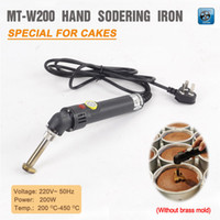Wholesale MT W200 Handle Electric sodering Iron cake mark mark gilt leather cake stamping machine V Hz W degree no mold