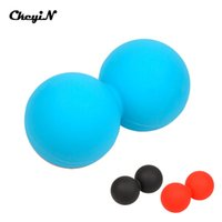 Wholesale Silicone Peanut Shape Yoga Massage Ball Trigger Point Therapy Massage Ball Slimming Tool Fitness Equipment AM043_2427