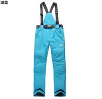 Wholesale womens skiing pants ladies snowboarding pants waterproof winter snow skiing suspender trousers breathable thermal snowboard pant