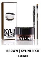 best cream eyeliner - Kylie Cosmetics KYLINER Birthday Limited Edition Eyeliner Kit Dark Bronze Black color top quality best price