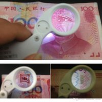 Wholesale 40 x mm Magnifying Glass Magnifier with LED Light for Jewelry Identifying