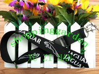 auto badge clips - HOT sale new Jaguar auto car lanyard necklace badge holder clip key chain phone starps