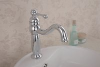 Wholesale Modern contemporary style basin single faucet chrome plated sink mixer tap deck mounted