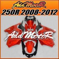 Wholesale Best Choice Addmotor Injection Fairings Mold Plastic For Kawasaki Ninja EX250R Orange K2526 Free Gifts Cyan