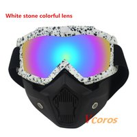 Wholesale New Arrival The Most Popular Detachable Modular Mask Goggles And Mouth Filter for Motorcycle Helmet Moto Casque Casco Capacete