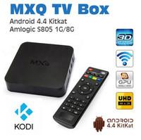 Wholesale MXQ TV BOX MX Amlogic S805 Quad Core IPTV Android TV box Kitkat K GB GB XBMC fully Loaded WIFI Airplay Miracast