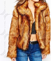 basic paragraphs - Short paragraph fake fur Faishon Winter Women s Faux Fur Short Design Grade imitation raccoon fur Coat Basic Jacket